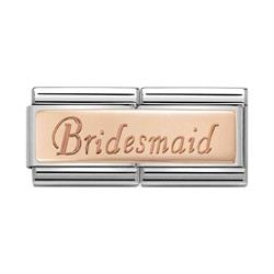 Rose Gold Bridesmaid Double Charm