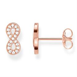 Infinity of Love Earrings Rose-Gold Plated