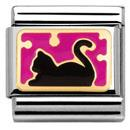 Cat with Dots in Fuchsia Charm