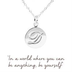 D Mantra Initial Necklace