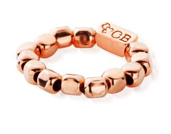 Chunky Rose Gold Beaded Ring Small