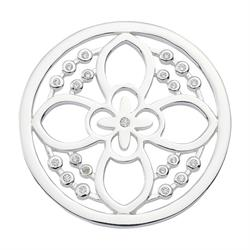 Silver Day Flower Crystal Coin 33mm