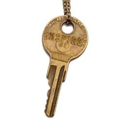 "The Giving Keys INSPIRE Classic Brass 26"" Key Necklace"