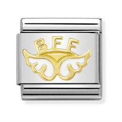 Gold BFF Angel of Friendship Charm