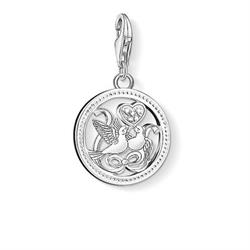 Silver Wedding Doves Charm