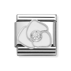 Buy Nomination White Enamel CZ Flower