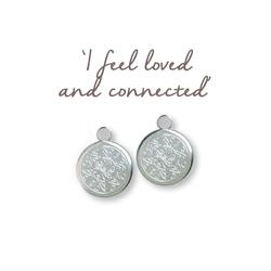 Mantra Love Mandala Silver Drop Earrings