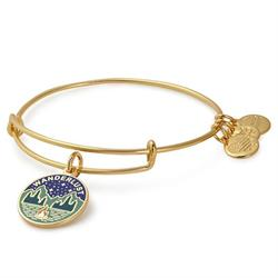 Wanderlust Bangle in Shiny Gold