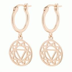 Solar Plexus Chakra Rose Gold Drop Earrings