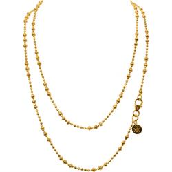 Yellow Gold 80cm Graduated Beads Chain