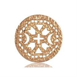 Gold Ancient Cross Coin 33mm