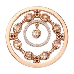 Nikki Lissoni Rose Gold Natural Flair Medium Coin 33mm