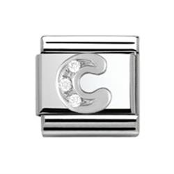 SilverShine Letter 'C' Charm Link