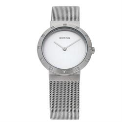 Classic Silver Mesh Strap Ladies Bering Watch