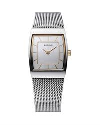 Two Tone Cushion Mesh Watch
