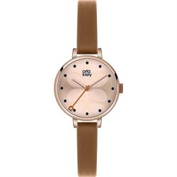 Ivy Tan Leather Strap Watch