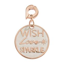 Wish Love Sparkle Rose Charm Pendant