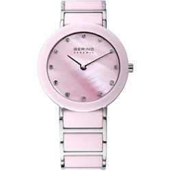 Bering Large Pink Ceramic Dial with CZ