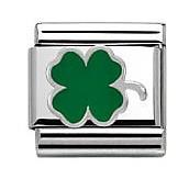 Nomination Green Clover Charm