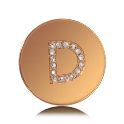 Letter D Small Gold Coin