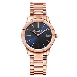 Rose Gold Sapphire Blue Dial Ladies Watch
