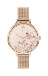 Sara Miller Butterfly Mesh Watch