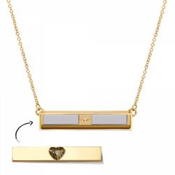 Gold Toned Bar Necklace