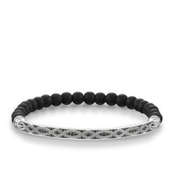 Love Bridge Black Obsidian Braid Bracelet