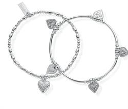Cherabella Embrace Set of 2 Silver Bracelets