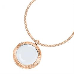 "Rose Gold Medium Cherish Locket 30"" Chain"
