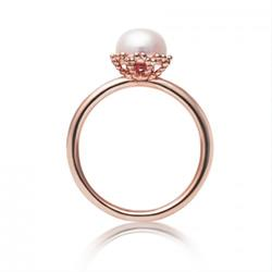 Jersey Pearl Rose Gold Pearl Ring R-P