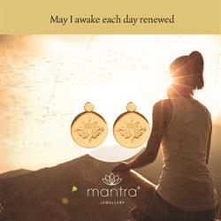 Lotus Renewed Earrings in Gold