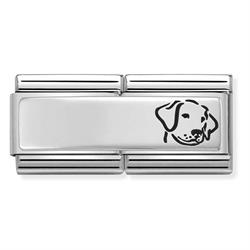 Silver Dog Double Charm