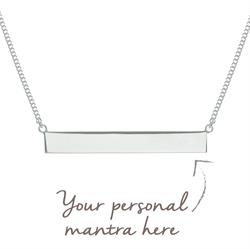 Personalised Bar Necklace 45cm