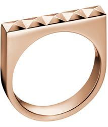 Calvin Klein Rose Gold Edge Ring Size 8
