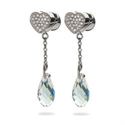 Folli Follie Eternal Silver Heart Earrings