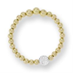Outlet Tresor Paris BonBon Gold and White Crystal Bracelet