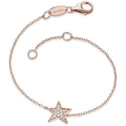 Rose Gold CZ Star Bracelet