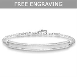 Love Bridge Silver CZ Bracelet Medium