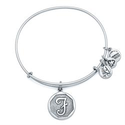 F Initial Bangle in Rafaelian Silver