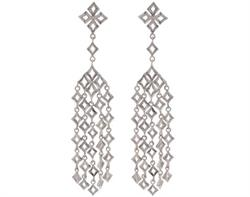 Silver Almaz Drop Earrings