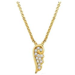 Angel CZ Small Necklace Gold