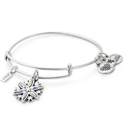 CZ 2017 Snowflake Bangle in Rafaelian Silver