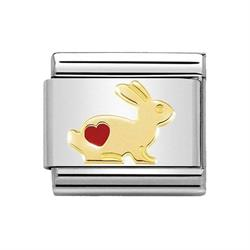 Rabbit with Red Heart Charm by Nomination