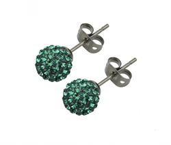 Candeur 8mm Emerald Studs