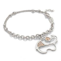 Nomination Jasmine Rose Gold and Silver Elephant Bracelet