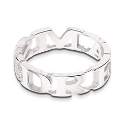 Outlet Take What You Need Silver Toned Dreams Ring 54