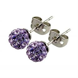 8mm Placy Stud Earrings