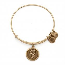 Alex and Ani Z Initial Bangle in Rafaelian Gold Outlet