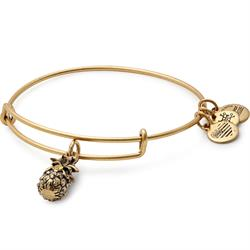 Pineapple bangle in Rafaelian Gold Finish